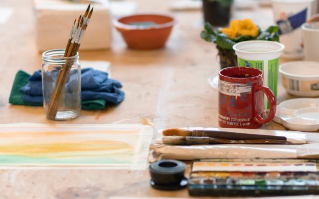 Akvarel v malbě florálních motivů / Floral motives aquarelle painting
