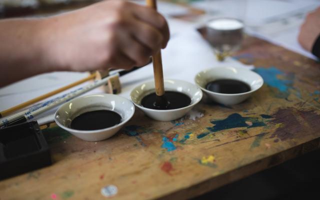 Japonská tušová malba s Radkou Müllerovou / Japanese Ink Painting with artist Radka Müllerová