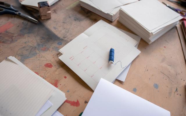 Výroba diáře s Reformát — švýcarská vazba / Diary fabrication